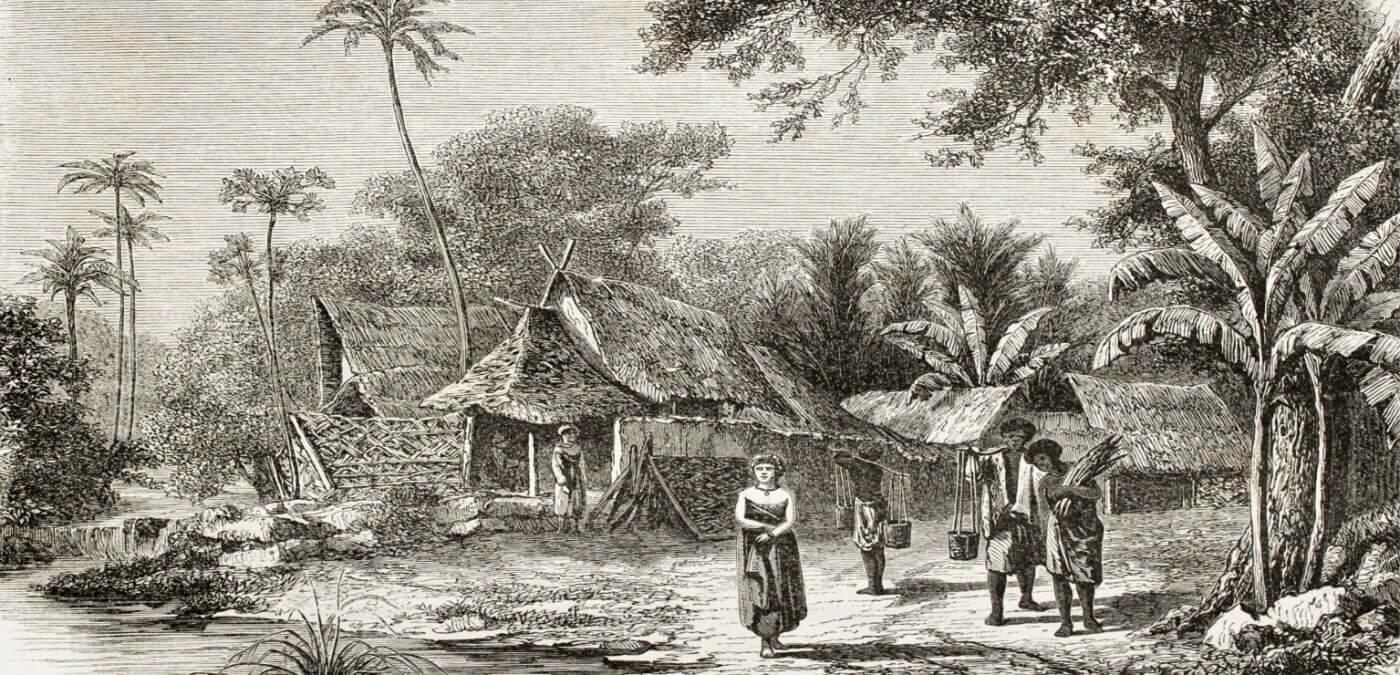 Carte postale village indonésie - Naga Rum